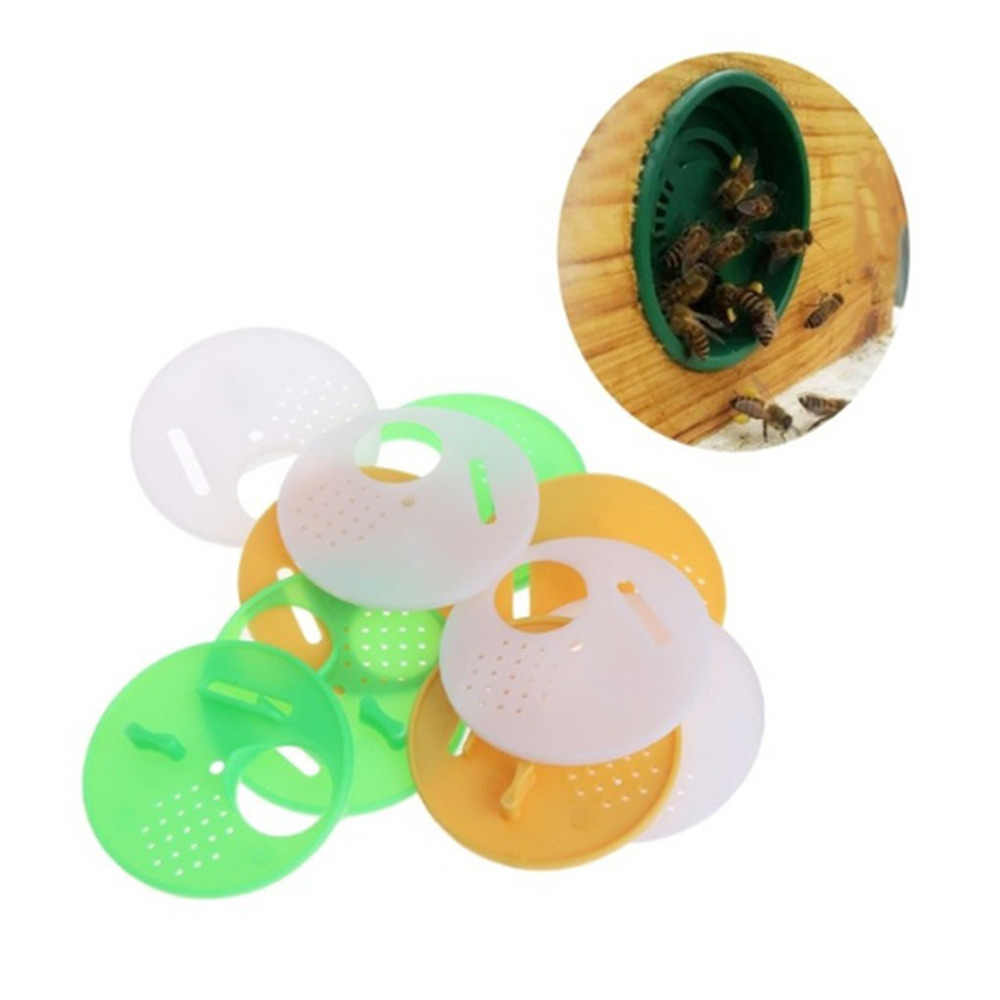 Beekeeping Equipment Bees And Beekeeping Tools 12pc Plastic Bee Nest Door / Entrance Disc / Bee Hive Nuc Box Entrance Gate Tool