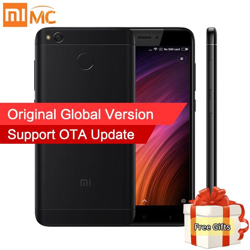 Глобальная версия xiaomi redmi 4x 4 x мобильного телефона 3 ГБ ram 32 ГБ rom snapdragon 435 octa core 13.0mp камера 4100 мАч отпечатков пальцев смартфон