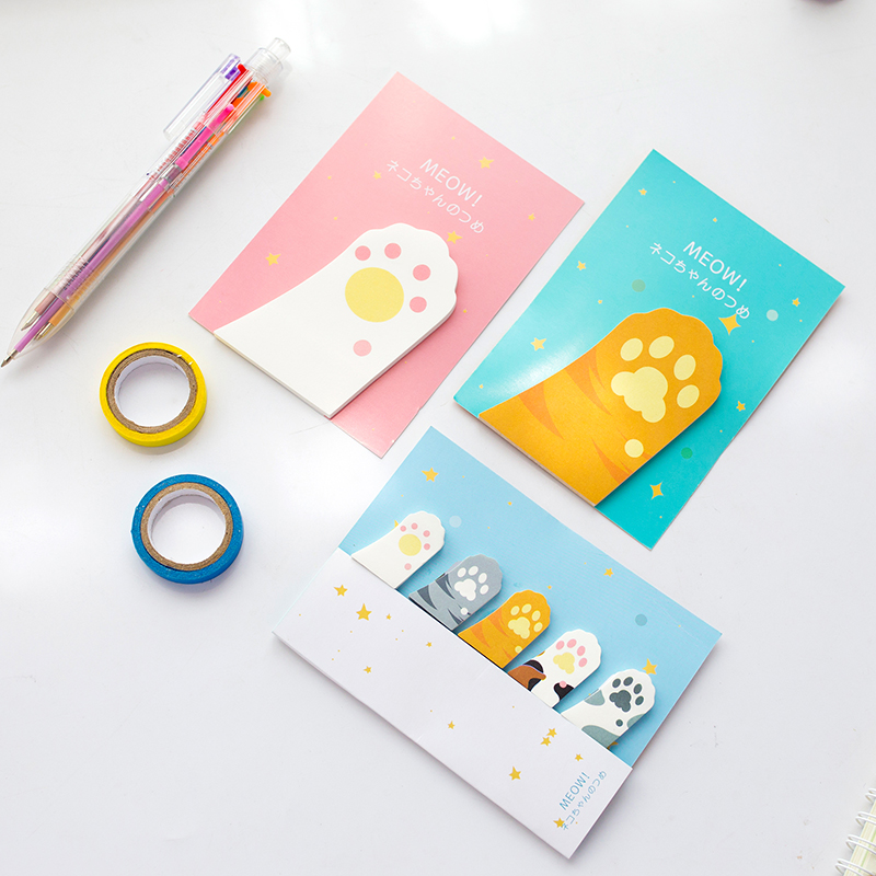 6 pcs / lot chat mignon pense-bête Kawaii griffe mémo pad scrapbook - Blocs-notes et carnets