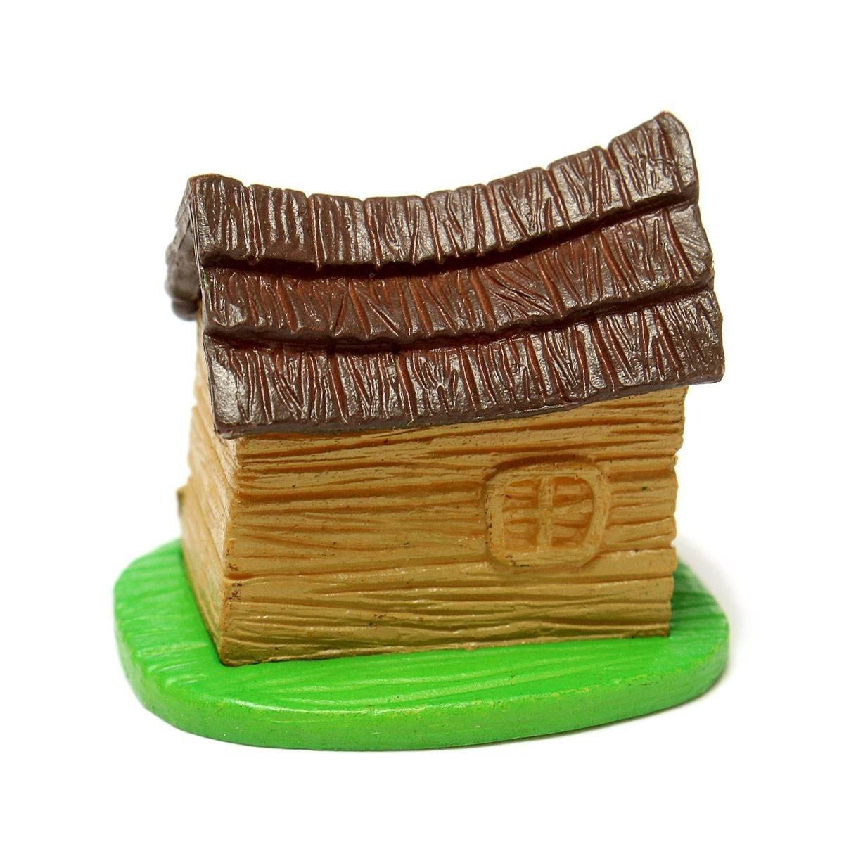 SZ Hot Miniature DollHouse Landscape Moss Micro Mini House DIY Fairy ...