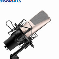 Newest Fashion SOONHUA Desktop Condenser Microphone Professional Studio Broadcasting Mic With Shock Mount For Computer/PC