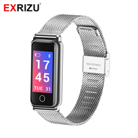 EXRIZU Y8 Fashion Sport Watch Health Bluetooth Smart Wristband Stainless Steel Fitness Bracelet Heart Rate Monitor Wrist Band