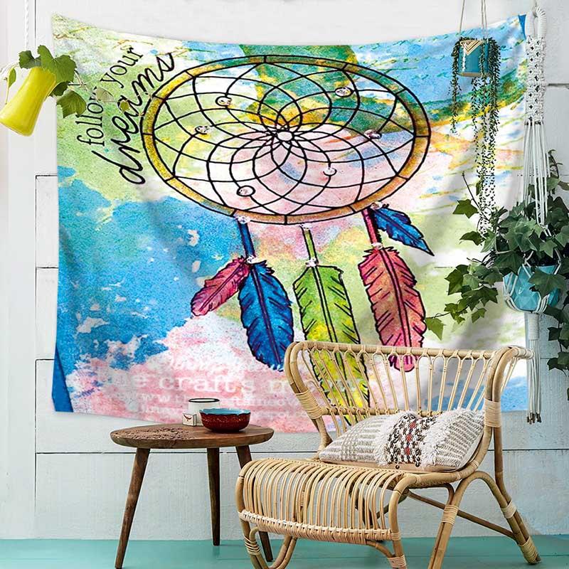 Lace Mandala Zen Yoga Tapestry Wall Hanging for Living Room Bedroom Dorm Decor