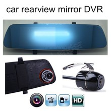 Big sale best selling 5 inch car Rearview Mirror with rear camera DVR Camera Full HD 1080P Daul cameras video recorder vehicle
