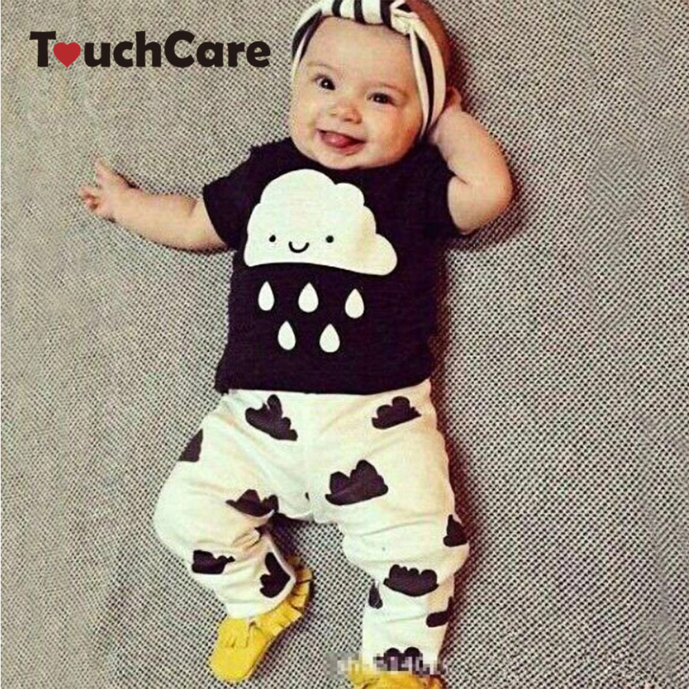 Clearance  2Pcs/set Baby Boy Clothes Cartoon Pattern Baby Clothing Sets Summer Black White Top+pant For Newborns Bebk Giyim clearance 2pcs set baby boy clothes cartoon pattern baby clothing sets summer black white top pant for newborns bebk giyim