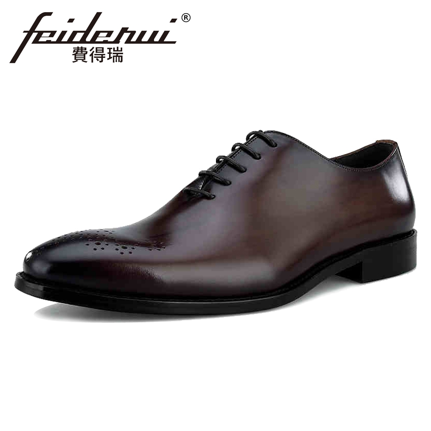 luxury round toe breathable man formal dress shoes genuine leather derby carved oxfords famous men s bridal wedding flats gd78 Top Quality Genuine Leather Men's Oxfords Round Toe Man Wedding Party Flats Formal Dress Handmade Designer Bridal Shoes BQL83