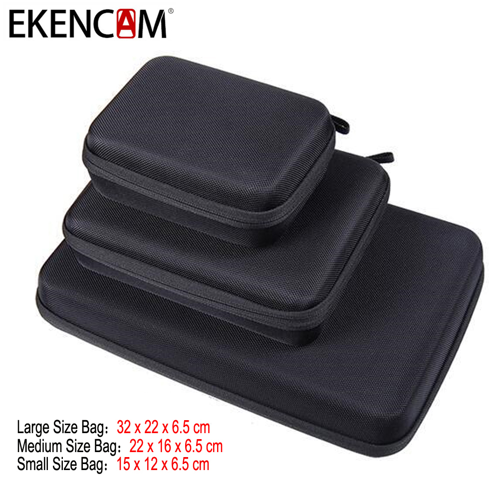 EKENCAM Portable Carry Case Small Medium Large Size Anti-shock Storage Bag for Go pro Hero 6 53/4 SJCAM M20 SJ6 S lanbeika shockproof waterproof portable hard case box bag eva protection for sjcam m20 sj4000 sj5000 sj6 go pro hero 6 5 4 3