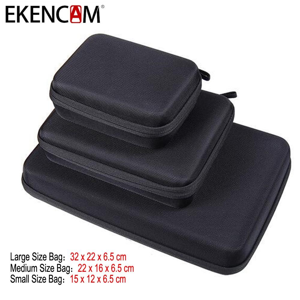 EKENCAM Portable Carry Case Small Medium Large Size Anti-shock Storage Bag for Go pro Hero 6 53/4 SJCAM M20 SJ6 S