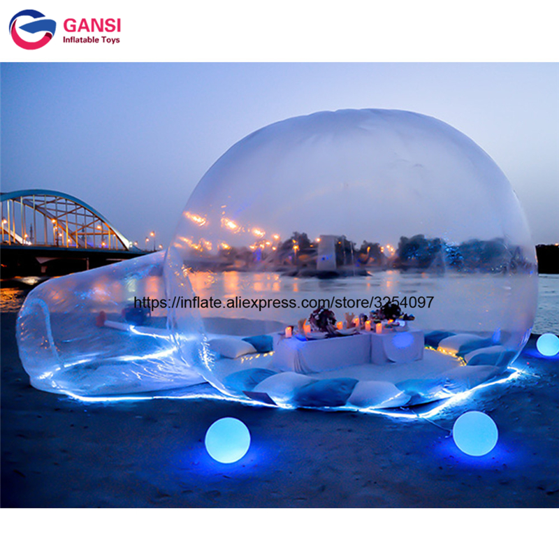 PVC tarpaulin camping igloo inflatable bubble house clear tent for relaxing 4m diameter inflatable transparent tent for sale недорго, оригинальная цена