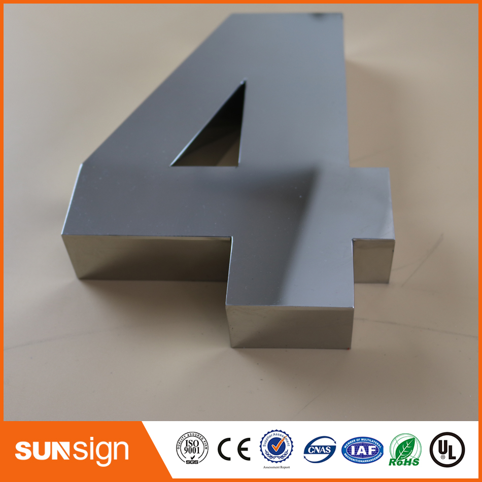 Digital Door House Number 4 Stainless Steel Numbers