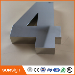 H 15cm Digital Door House Number 4 Stainless Steel numbers