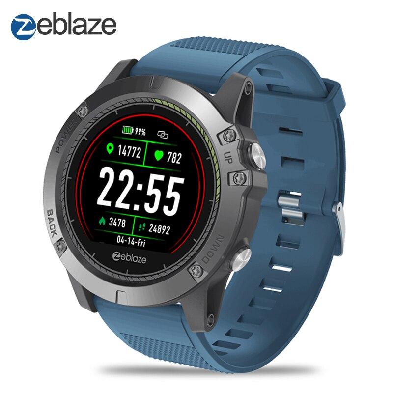 Nouveau Zeblaze VIBE 3 RH montre connectée IP67 Étanche moniteur d'activité fitness moniteur de fréquence cardiaque BORD Hommes Smartwatch