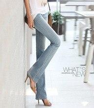 Новый женщины вспыхивают стрейч джинсы женские брюки микро-спикер тонкий бедра брюки большой ярдов джинсовой пригородных