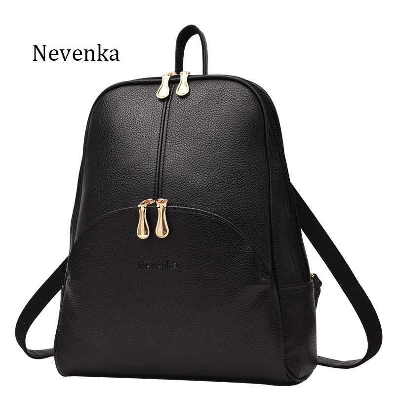 Nevenka Мини Рюкзак Женский легкий вес рюкзаки для девочек модные рюкзаки Дамская кожаная женская школьная сумка серый Рюкзак Черный