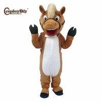 Косплэй DIY унисекс Плюшевые Лошадь Маскоты костюм для взрослых Косплэй костюм маскарадный костюм для Хэллоуин Рождество индивидуальный за