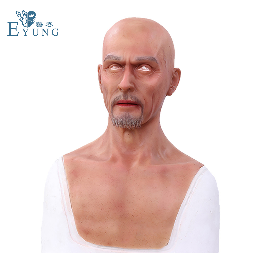 EYUNG Charles Europe man face Simulation mask Top realistic silicone old men masquerade Film and television special effects prop