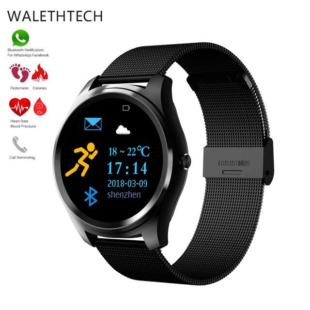 77aa400cb930 € 38.79 |X8 Smart Watch hombres Smartwatch mujeres Frecuencia Cardíaca  Monitor de presión arterial reloj Sport Fitness Tracker pulsera para ...