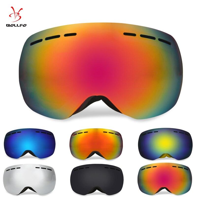 Профессиональные лыжные очки двойной слои линзы анти-туман UV400 большой Лыжные очки катание на лыжах Сноуборд мужские и женские зимние очки ...