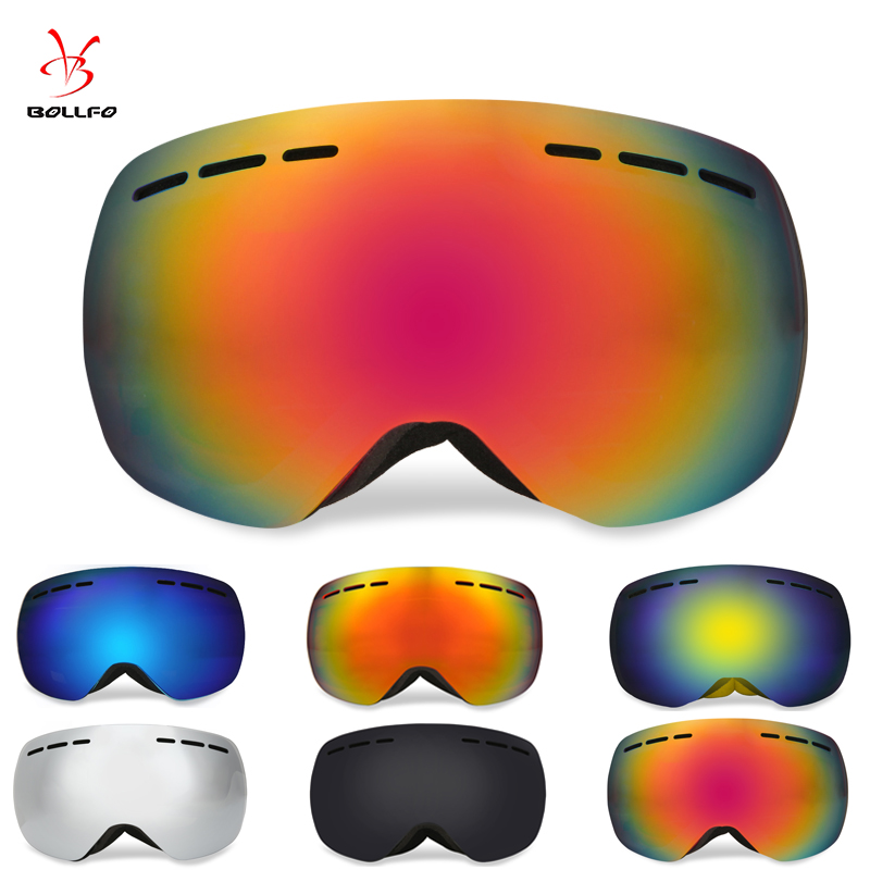Spherical Mirrors Ski Goggles Double Layers Lens Anti-Fog UV400 Skiing Equipment Snow Goggles Mask Men Women Antiparras Nieve