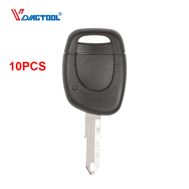 VDIAGTOOL 10PCS 1 button remote Car key shell Key Cover Fob for Renault Twingo Clio Kangoo Master Uncut Blade no battery place image