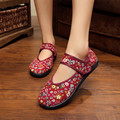 Cotton Farbic Women Flat Heel Shoes Printing Flowers Three Colors  Shoes For Women Free Shipping HSC32