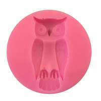 3D Small cartoon Owl fondant cake molds soap chocolate mould kitchen baking Silicone Sugar Cake Decoarion Tool