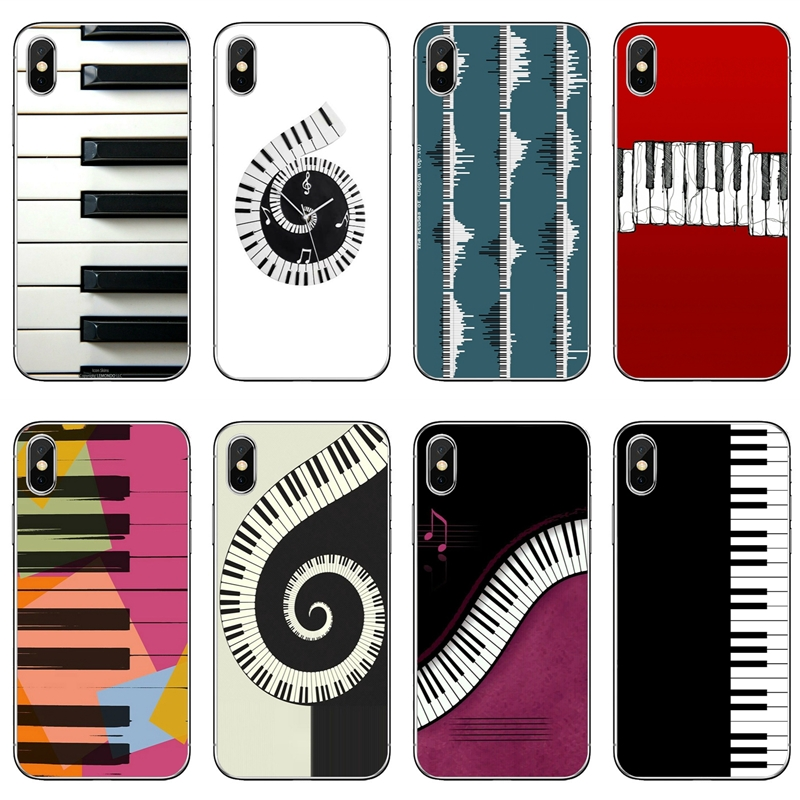 Piano Keys Musical Lover Gift For Huawei P20 P10 P9 P8 Pro Lite Plus Pro P Smart Mini Nova 2 3 3i Tpu Soft Phone Cover Case Half-wrapped Case Phone Bags & Cases
