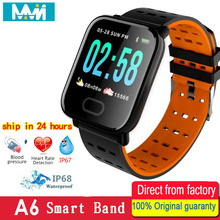 A6 Smart Band Hear Rate Monitor Fitness Tracker Remote Contr