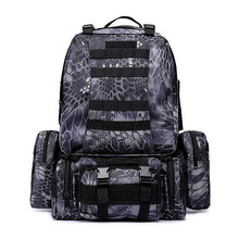3D Army Fans Rucksack Bag Multi Sytle Multifunction Waterproof High Capacity for Hike Trek Camouflage Travel Backpack  W02