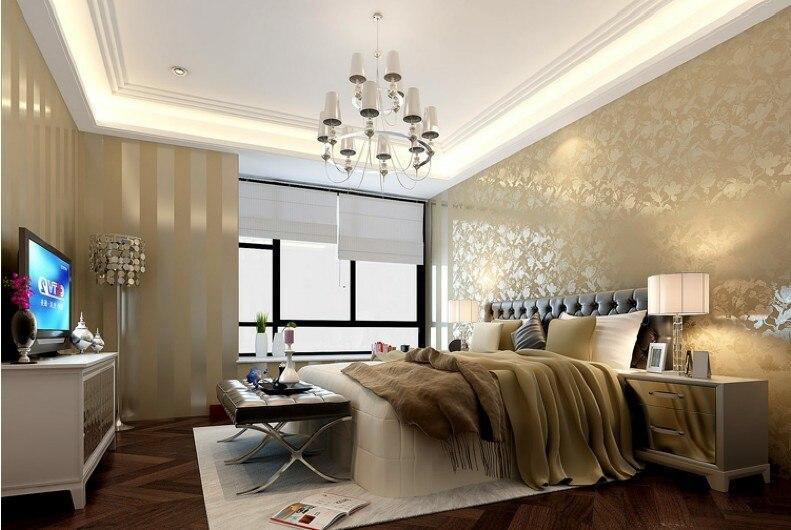 Heiße verkäufe gold und beige striped natur holz designs tapete ...