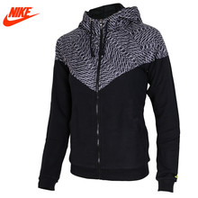 Nike original fall women's sports breathable jacket Black and Red