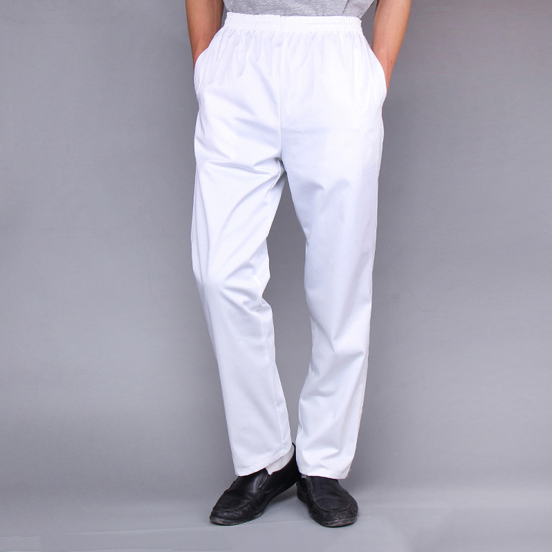 High Quality Chef Pants Mens Fasion Chef Overalls Elastic Suit Pants Kitchen Cooking Coffee Shop Pants