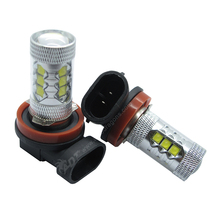 4*Excellent Quality H8 H11 80W CR-EE+EPIS-TER  LED Bulbs White Car Auto Fog Driving DRL Headlight Lamp Light DC12V