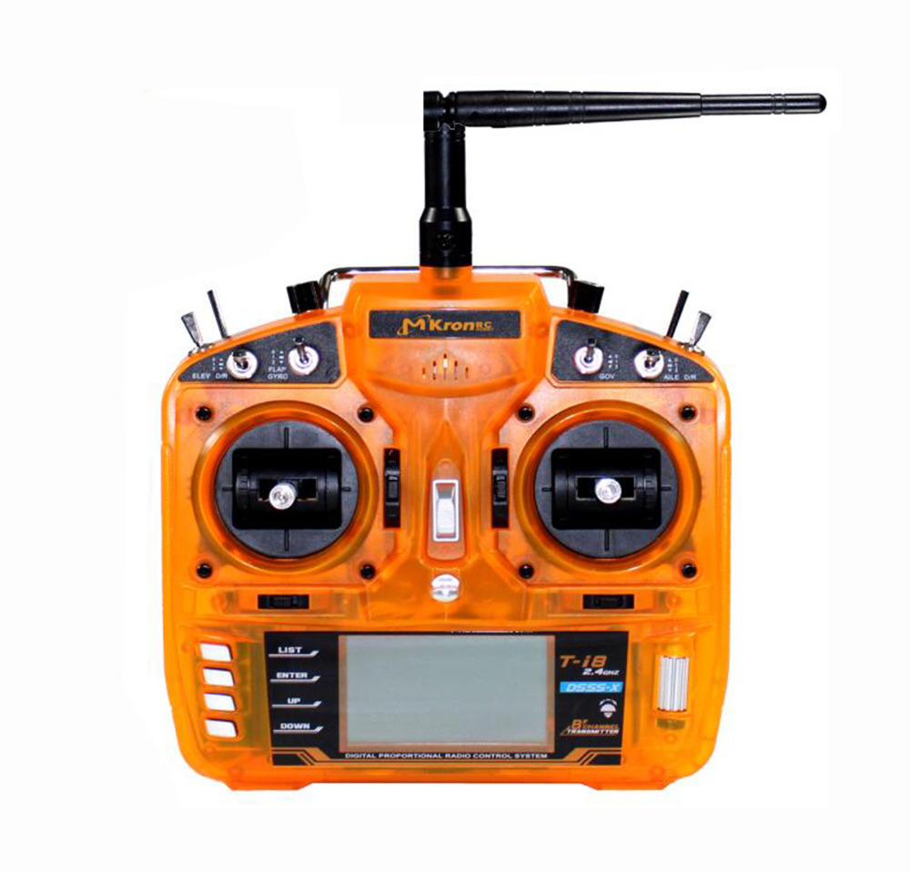цена на HOBBYMATE T-i8 2.4GHz 8CH DSM-X Digital Spread Modulation X Compatible Full Range Radio Transmitter 3-Pos Switch - for Rc Helico