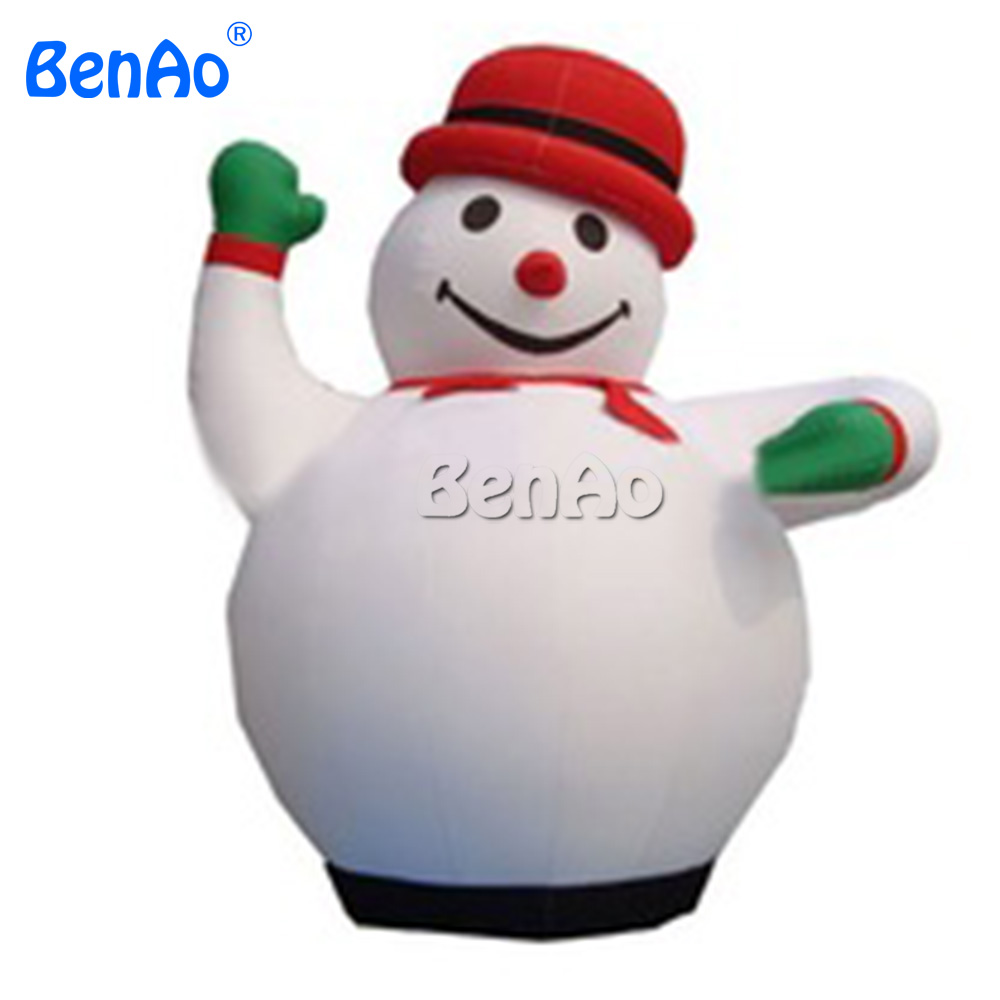 X120 DHL Free shipping  4m high Outdoor inflatable snowman with red hat/Giant Christmas Inflatable snowman for sale inflatable cartoon customized advertising giant christmas inflatable santa claus for christmas outdoor decoration