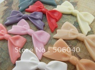 47*25mm 8 Colors Flatback Resin Bow Cameo For Jewelry Decoration Wholesale 100pcs/lot