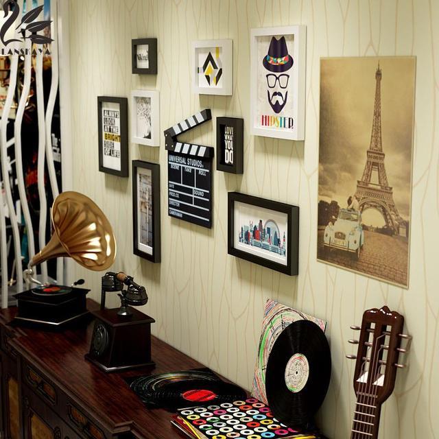 Lanskaya Moderno Pintura Quadro Retângulo De Madeira Multi Quadro 3d Foto  Frames Poster Modern