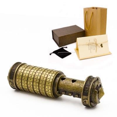[Hot] jouets éducatifs en métal Cryptex serrures idées cadeaux Da Vinci Code serrure pour épouser les accessoires de chambre d'évasion amoureux obtenir 2 anneaux gratuits - 4