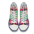 FORUDESIGNS 2017 High Top Canvas Shoes for Women,Fashion Candy Female Flat Casual Shoes Ladies Girl Lace Up Footwear Flats Shoes