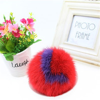 New Letter Mink Hair Ball Bag Pendant Small Monster Ornaments Fur Plush With Jewelry Car Key