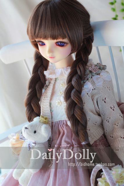 NEW !!  1/3 BJD wig long braided pigtail hair  doll  DIY High-Temperature Wire for 1/3 1/4  BJD SD dollfie