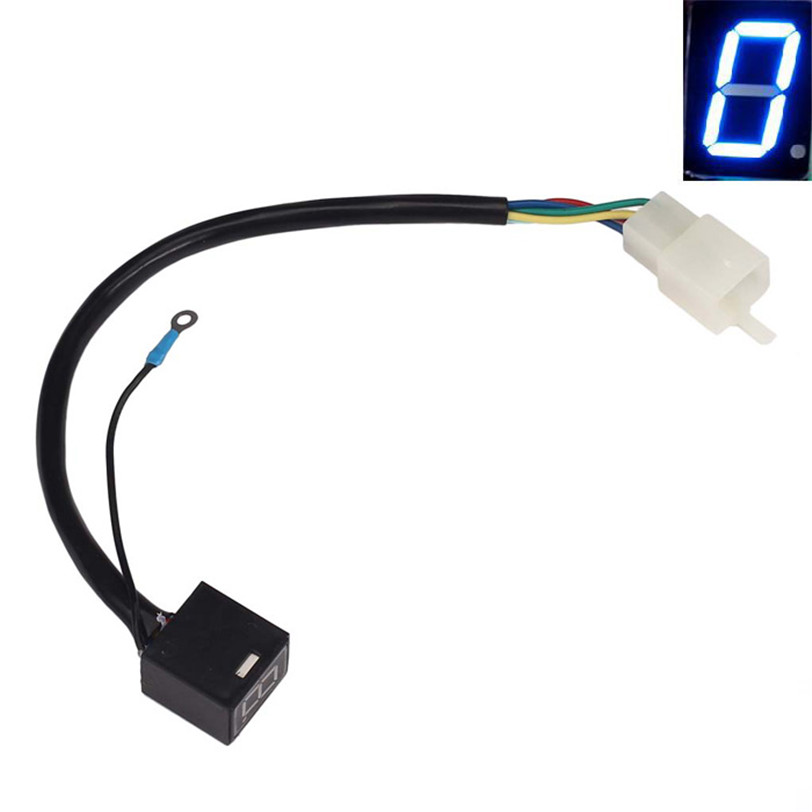 Accesorio de la motocicleta azul led display indicador de marcha digital univers