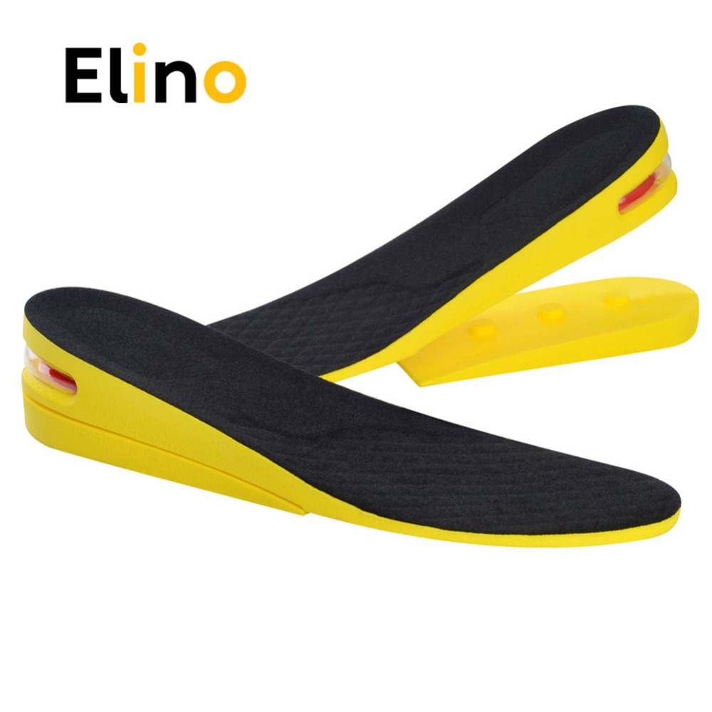 Elino 2-Layer Memory Foam Insoles for Shoes Elevator Invisible Height Increase Sole Men Women Sport Air Cushion Soles Pads цена
