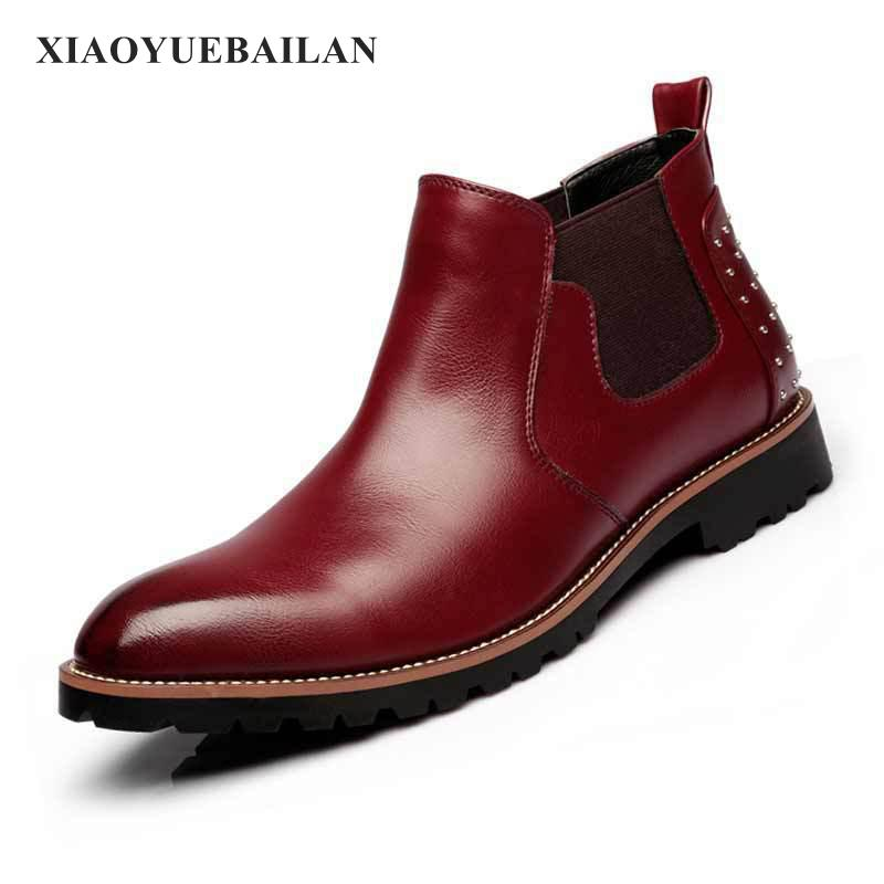 2017 Nouveau Point Martin jaune rouge Rétro Casual Noir Confortable Mode Bas Bottes Pour uTK1c3FJl