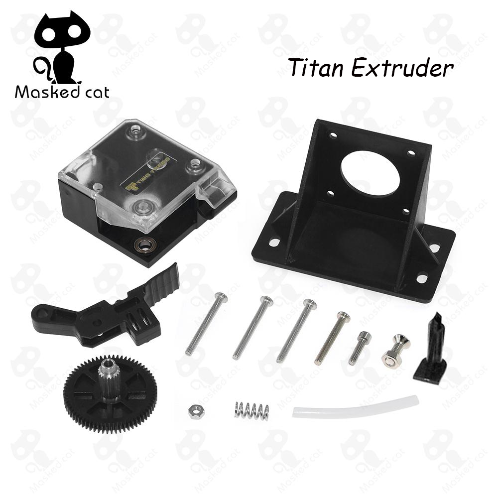 3D Printer Parts DIY Titan Extruder Fully Kits With Nema 17 Stepper Motor For V6 J-head Bowden Extruder Feeder Bracket 3d printer parts tevo black widow titan step motor for titan extruder 3d printer extruder 42 42 23mm for j head bowden