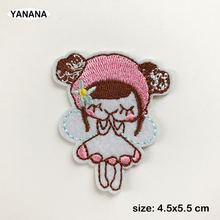 Lovely angel girl patches embroidery for iron on Clothing