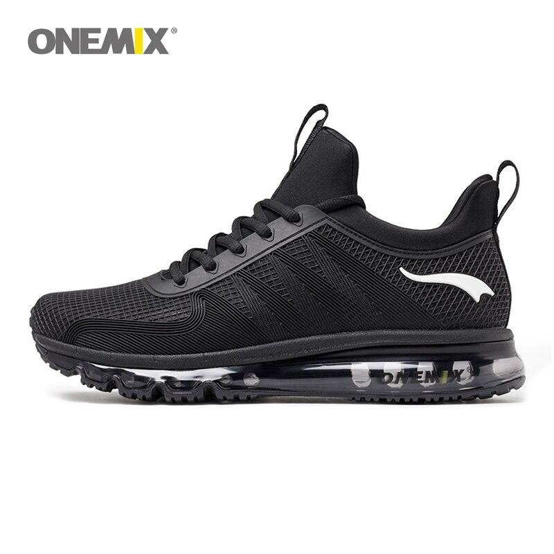 Onemix high top men running shoes shock absorption sports sneaker breathable light sneaker for outdoor walking jogging shoe 1191 цена 2017