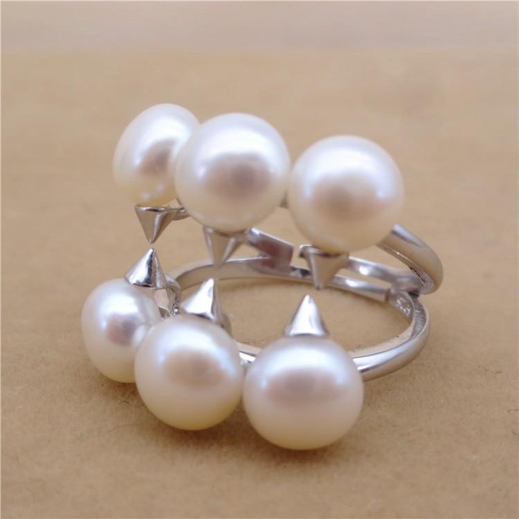 Éternel mariage femmes cadeau mot 925 Sterling réel nouveau TASAKI avec anneau de perle, anneau de perle rouge vif, européen et amérique