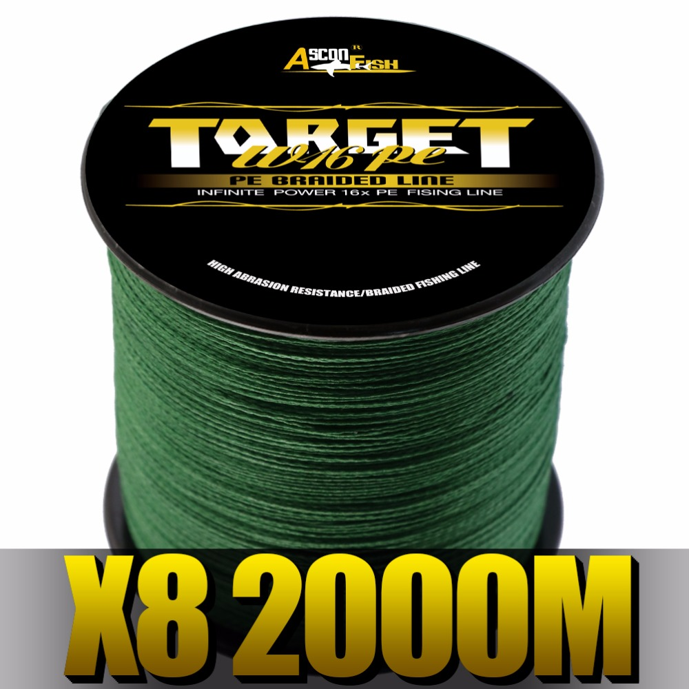 Ascon Fish Braided Fishing Line 8 Strands 2000m Multifilament Line for Fishing Carp Super Strong Tippet Saltwater Freshwater парогенератор с утюгом silter super mini 2000m 1литр с манометром