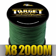 Ascon Fish Braided Fishing Line 8 Strands 2000m Multifilament Line for Fishing Carp Super Strong Tippet Saltwater Freshwater